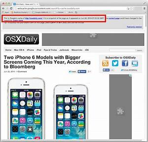 How to access google cached pages on iphone and with it ...