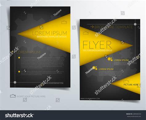 Yellow Brochure Design Vector Millions Vectors Brochure Template Vector Background Flyer Design With