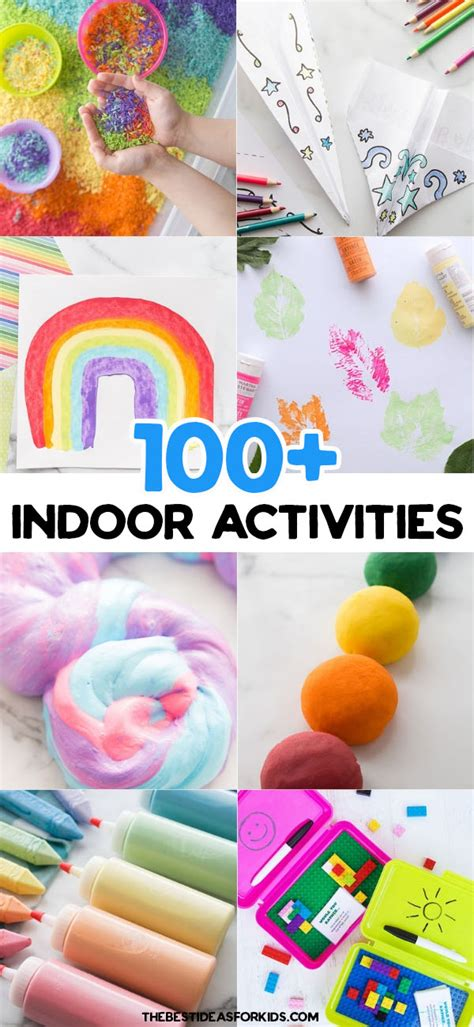 100+ Indoor Activities for Kids (with Free Printable) The