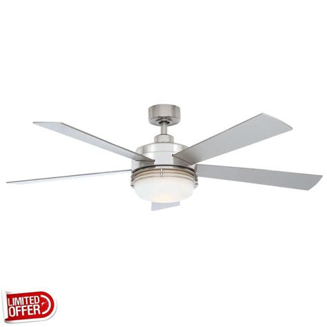 52 brushed nickel ceiling fan sale hton bay sussex ii 52 inch brushed nickel ceiling