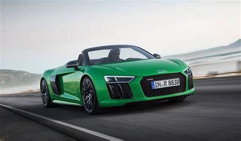 audi r8 2018 audi r8 spyder v10 plus arrives with 610 horsepower