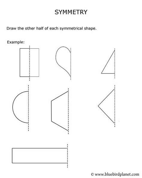 printables  kids symmetry worksheets