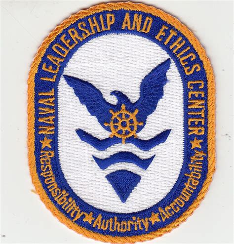 naval leadership  ethics center command chest patch