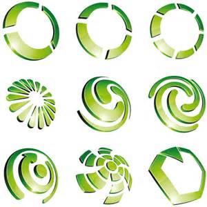 free logo design green 3d logo design vector 02 vector logo free