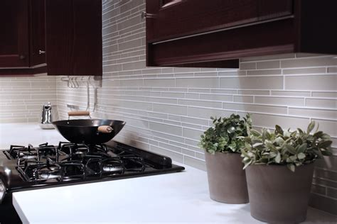 white glass subway tile kitchen backsplash wall sink