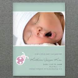 Baby Girl Birth Announcement Template