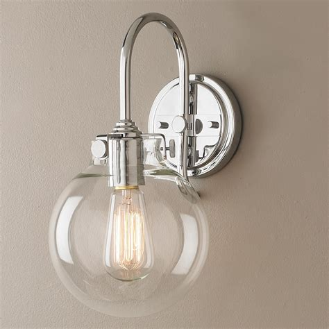 Globe Bathroom Light Fixtures by Retro Glass Globe Wall Sconce Lighting Bathroom Wall