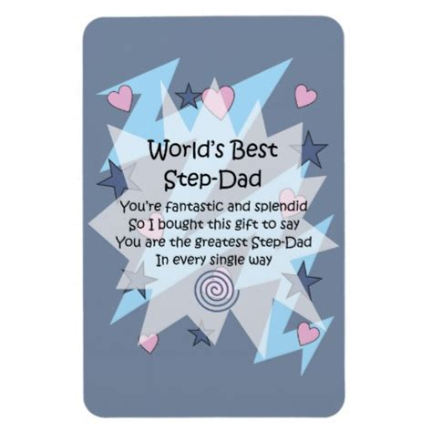 for step dad gifts with verse sentiment words rectangular
