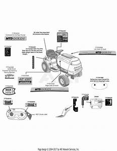 Mtd 13aj795s004  2010  Parts Diagram For Label Map Mtd Gold 42 Inch