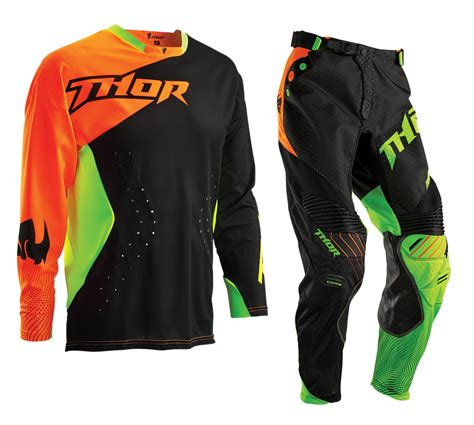 motocross gear thor new 2016 mx core air divide lite black fluro