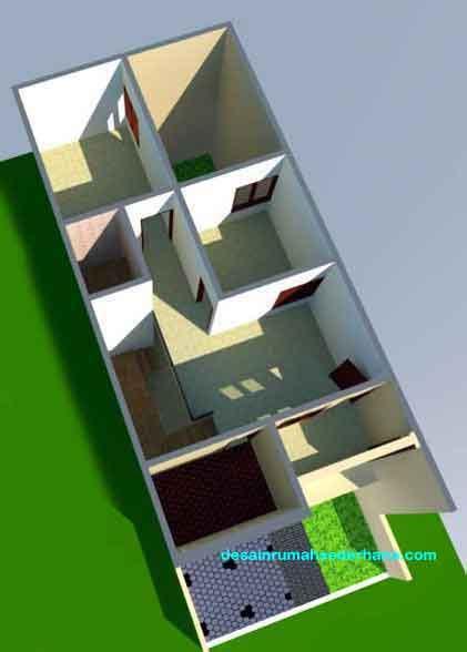 gambar rumah  lantai tanah  meter desainrumahsederhanacom
