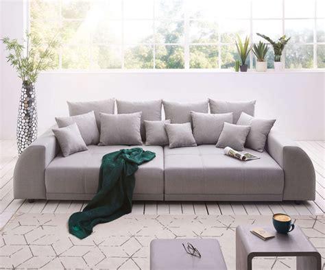 Big Sofa Klein by Delife Big Sofa Violetta 310x135 Cm Grau Abgesteppt Mit