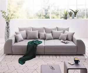 Big Sofa Grau : delife big sofa violetta 310x135 cm grau abgesteppt mit kissen big sofas 12223 online kaufen ~ Buech-reservation.com Haus und Dekorationen