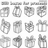 Gift Coloring Pages Gifts Different Kinds sketch template