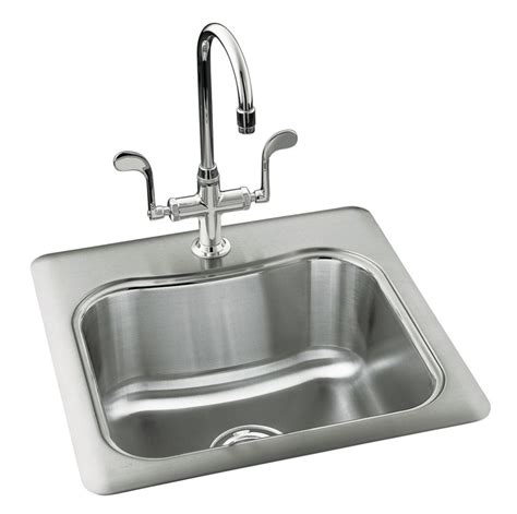 kitchen sink at home depot kohler staccato tm single basin self 8438