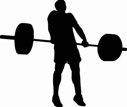Weight Silhouette Clipart Lifting Weightlifter Weights Powerlifting