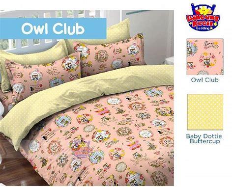 sprei owl club sprei dan bedcover motif anak anak toko bunda