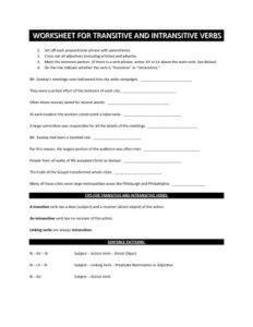 worksheets  kids    ages intransitive