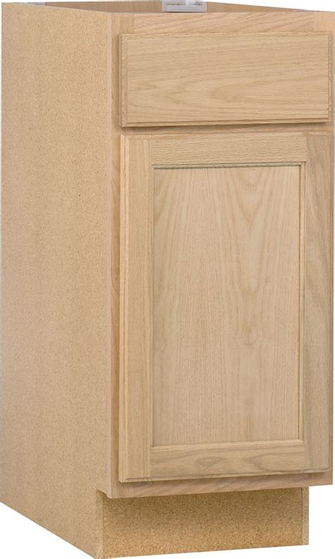 home depot canada unfinished oak cabinets unbranded unfinished oak 15 inch base cab the home depot