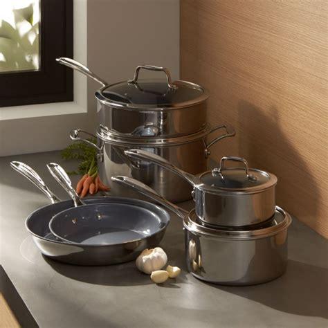 zwilling ja henckels vistaclad ceramic  stick  piece cookware set reviews crate