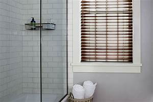 Wood tones blinds custom made blinds blinds to go for Fake window for bathroom