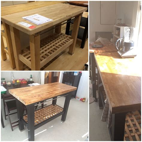 Groland Kitchen Island  Before And After Stainpaint