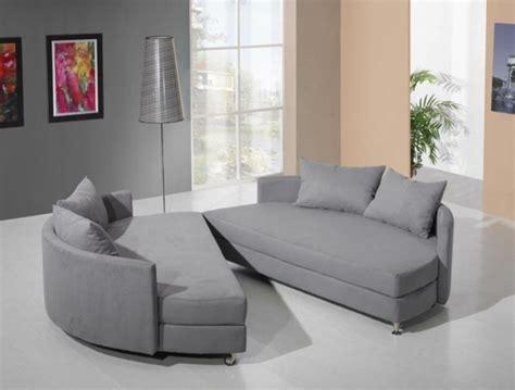 canapé arrondi design le canapé lit convertible un meuble pratique et moderne