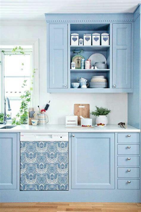 Sky Blue Kitchen Design Ideas   InteriorHolic.com