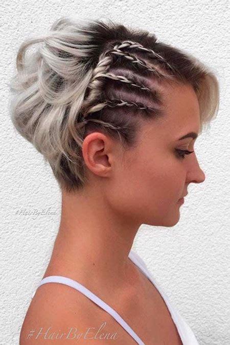 beautiful short braiding styles