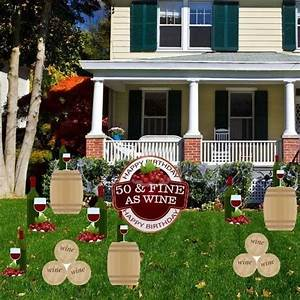 50th birthday yard decoration 3950 fine as wine39 set With kitchen cabinets lowes with 50th birthday stickers