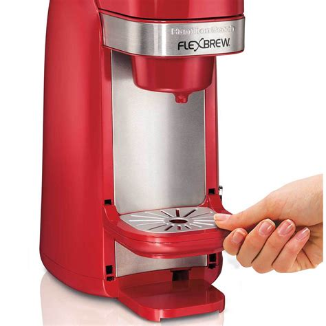 There is no constant hot water tank inside the machine like other single serve coffeemakers. Hamilton Beach FlexBrew® Single-Serve Coffee Maker - Red - 49960
