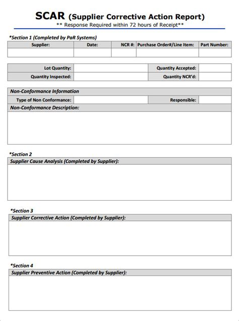 corrective action form template word templates resume