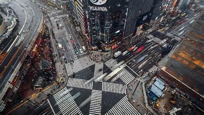Tokyo Street Japan Ginza Raining Construction Japanese