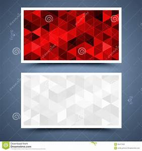 Red business card template abstract background stock for Red business card background