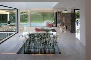 Waterfall, Indoor Water Feature, Modern House in Pilar