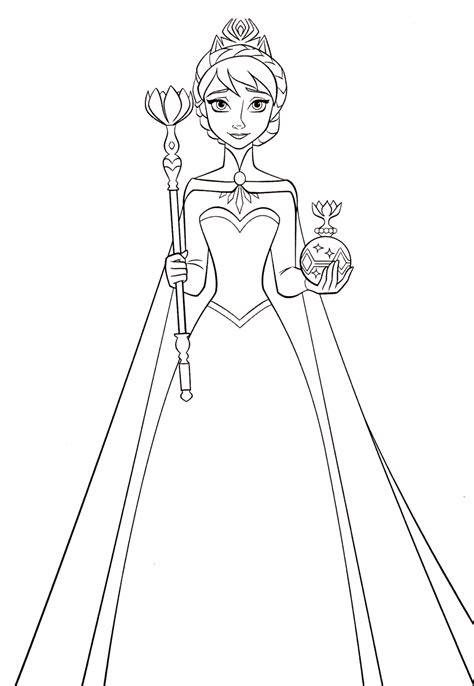 Queen Elsa Printable Coloring Pages Coloring Pages