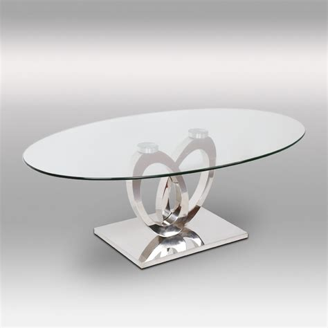 canape 3 places 2 places table basse inox et verre ellipse