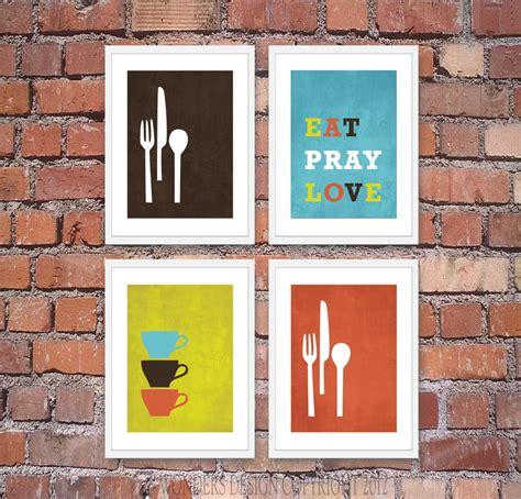 modern kitchen wall art print set inspirational