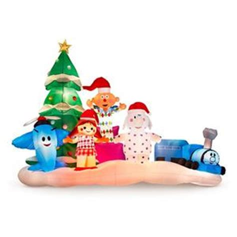 island of misfit toys yard decorations large outdoor rudolph misfit toys lighted airblown ebay