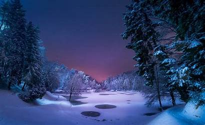 Desktop Backgrounds Snowy Snow Winter Wallpapers Night