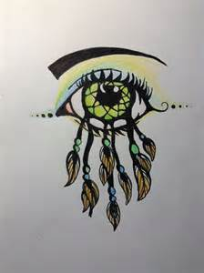 Dream Catcher with Eye Drawing