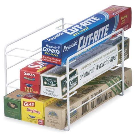 Kitchen Wrap Organizer In Food Wrap Holders