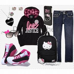 Hello Kitty Outfit #hellokitty #jordan #justice | Cute ...