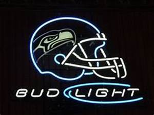 Neon Beer Sign Bud Light NFL Seattle Seahawks