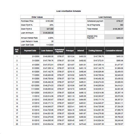 mortgage amortization table excel excel loan amortization schedule download printable