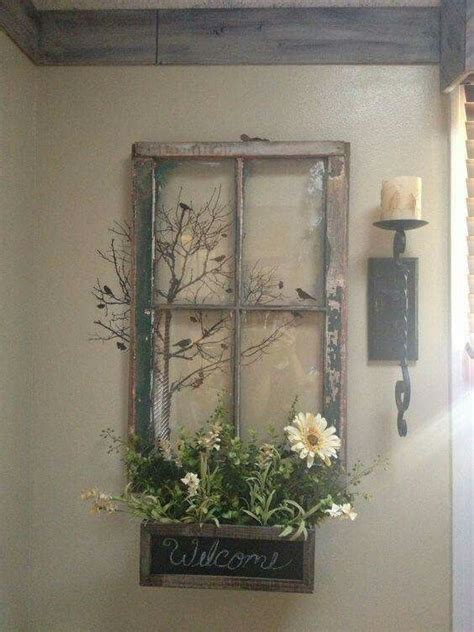 window frame decor old window frame decor remesl 225 pinterest vintage fenster schablonen und balkonk 228 sten