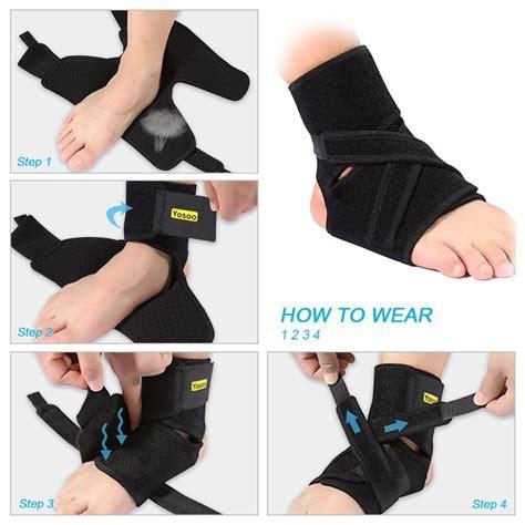 adjustable ankle support stabilizer brace compression foot
