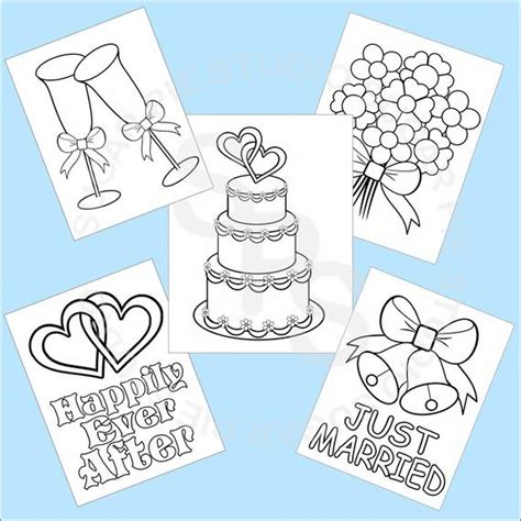 printable wedding favor kids coloring pages