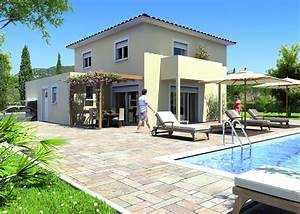 maison etage contemporaine avie home With maison bois toit plat 3 plan maison 224 etage et 224 toit plat ooreka