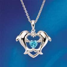 concorde collection dolphin heart diamond pendant